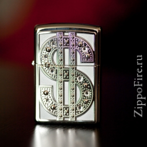 Zippo Bling Emblem High Polish Chrome Zippo Bling Emblem High Polish Chrome 20904