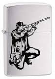 Zippo Brushed Chrome Zippo Brushed Chrome 200 Vector Rifle and Hunt