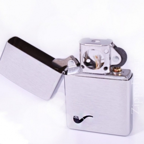 Zippo Brushed Chrome Pipe lighter Silver Zippo Brushed Chrome Pipe lighter Silver 200PL