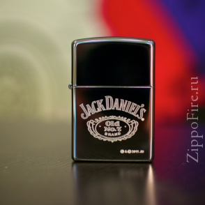 Zippo High Polish Chrome Jack Daniels Zippo High Polish Chrome Jack Daniels 250JD.321