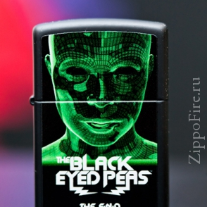 Zippo Black Matte Black Eyed Peas The End Zippo Black Matte Black Eyed Peas The End 28026