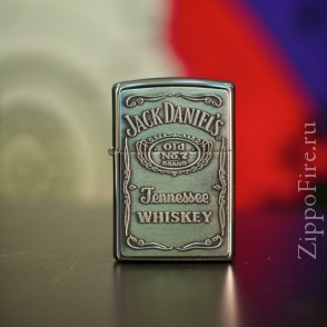 Zippo Emblem High Polish Chrome Jack Daniels Zippo Emblem High Polish Chrome Jack Daniels 250JD.427