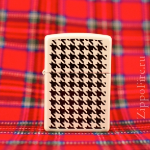 Zippo White Matte Hounds Tooth Zippo White Matte Hounds Tooth 24888