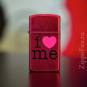 Zippo Candy Apple Red Zippo Candy Apple Red 24352 Slim