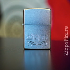 Zippo Satin Chrome Scroll Zippo Satin Chrome Scroll 24335
