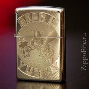 Zippo High Polish Chrome Beer Is Yummy Zippo High Polish Chrome Beer Is Yummy 24047