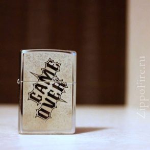 Zippo High Polish Chrome Game Over Zippo High Polish Chrome Game Over 28447