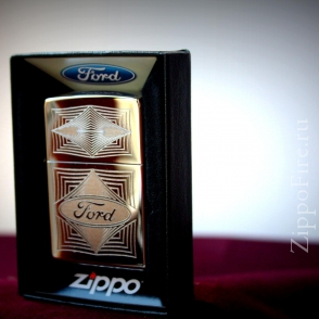 Zippo High Polish Chrome Ford Zippo High Polish Chrome Ford 28625