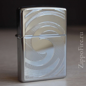 Zippo High Polish Chrome Swirl-3D Abstract Zippo High Polish Chrome Swirl-3D Abstract 28286