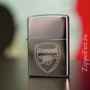 Zippo High Polish Chrome Arsenal Football Club Zippo High Polish Chrome Arsenal Football Club 250AFC