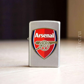 Zippo Satin Chrome Arsenal Football Club Zippo Satin Chrome Arsenal Football Club 205 AFC