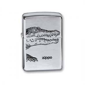 Zippo Brushed Chrome Zippo Brushed Chrome 200 Alligator