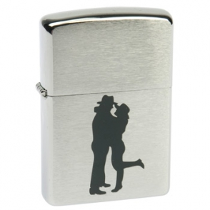 Zippo Brushed Chrome Zippo Brushed Chrome 200 Cowboy Couple