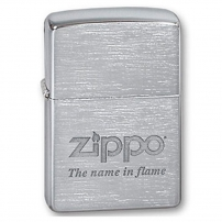 Zippo Brushed Chrome Zippo Brushed Chrome 200 Name in Flame