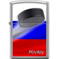 Zippo Brushed Chrome Zippo Brushed Chrome 200 Russian Hockey Puck