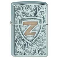 Zippo High Polish Chrome Zippo High Polish Chrome 250 Z Shield