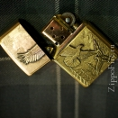 Zippo Brushed Brass Where Eagles Dare Emblem 20854 - 1