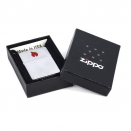 Zippo Brushed Chrome 200 Red Flame - 2