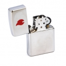 Zippo Brushed Chrome 200 Red Flame - 1