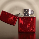 Zippo Candy Apple Red Iced Stars 28339 - 1