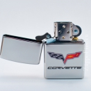 Zippo High Polish Chrome Chevy Corvette 24553 - 1