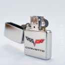 Zippo High Polish Chrome Chevy Corvette 24553 - 2