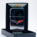Zippo High Polish Chrome Chevy Corvette 24553 - 3
