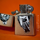 Zippo Brushed Chrome 200 Bike 2 - 3