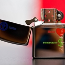Zippo High Polish Chrome Peace. Love. Prosperity 24714 - 2