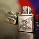 Zippo Brushed Chrome Harley Davidson Eagle Logo Emblem 200HD.H284 - 1