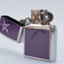 Zippo Brushed Chrome Star and Shadow 28030 - 1