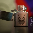 Zippo Brushed Chrome Tribal Wings Harley-Davidson 21046 - 1