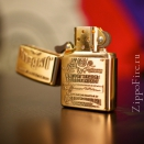 Zippo High Polish Brass Jim Beam Emblem 254BJB.929 - 1