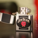 Zippo High Polish Chrome Jim Beam 28071 - 1