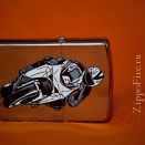 Zippo Brushed Chrome 200 Bike 2 - 2