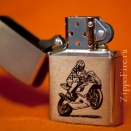 Zippo Brushed Chrome 200 Bike - 1