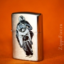 Zippo Brushed Chrome 200 Bike 2 - 1