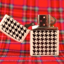 Zippo White Matte Hounds Tooth 24888 - 1