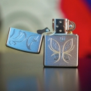 Zippo Satin Chrome Golden Butterfly 24339 - 1