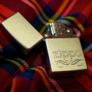 Zippo Satin Chrome Scroll 24335 - 2