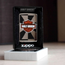 Zippo High Polish Chrome Harley Davidson Reflection  24024 - 1