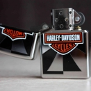 Zippo High Polish Chrome Harley Davidson Reflection  24024 - 2