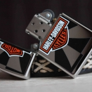 Zippo High Polish Chrome Harley Davidson Reflection  24024 - 4