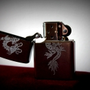 Zippo brushed chrome 200 dragon1 200 dragon1 - 1