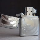 Zippo High Polish Chrome Swirl-3D Abstract 28286 - 1
