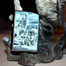 Zippo Brushed Chrome Сlaudio Mazzi Winter Howling Wolves 28002 - 1