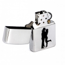 Zippo Brushed Chrome 200 Cowboy Couple - 2