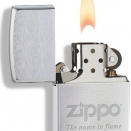 Zippo Brushed Chrome 200 Name in Flame - 2