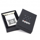 Zippo Satin Chrome 205 Tattoo Design  - 1